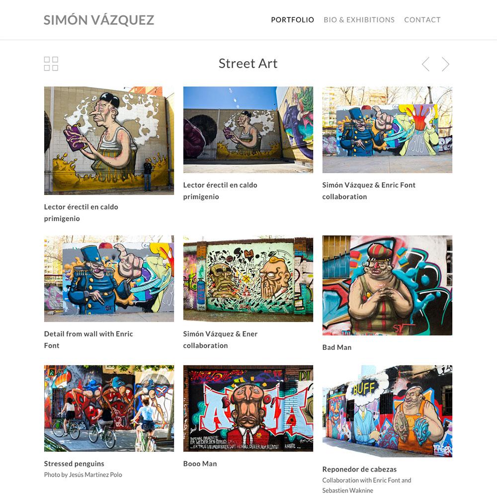 Simón Vázquez - Pintor - Diseño Web