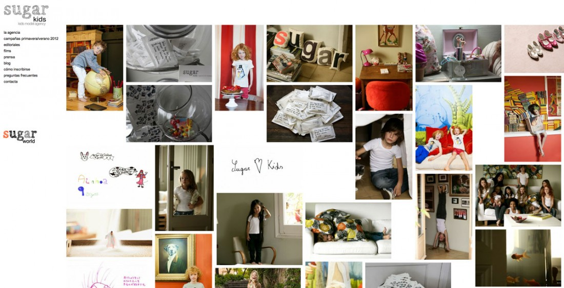 Sugarkids - Agencia de niños - Diseño web