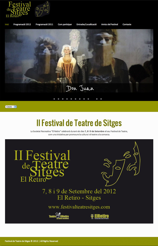 Festival de teatre de Sitges - Diseño web