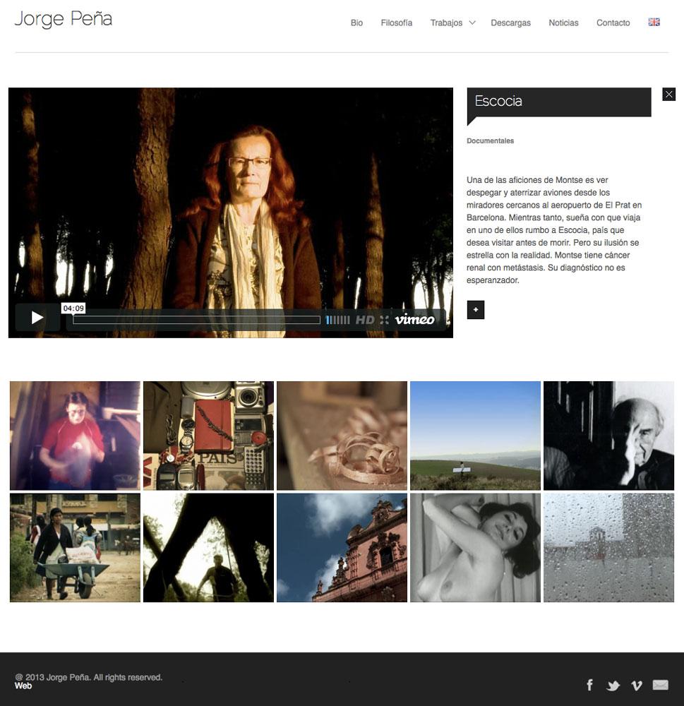 Jorge Peña - Diseño web