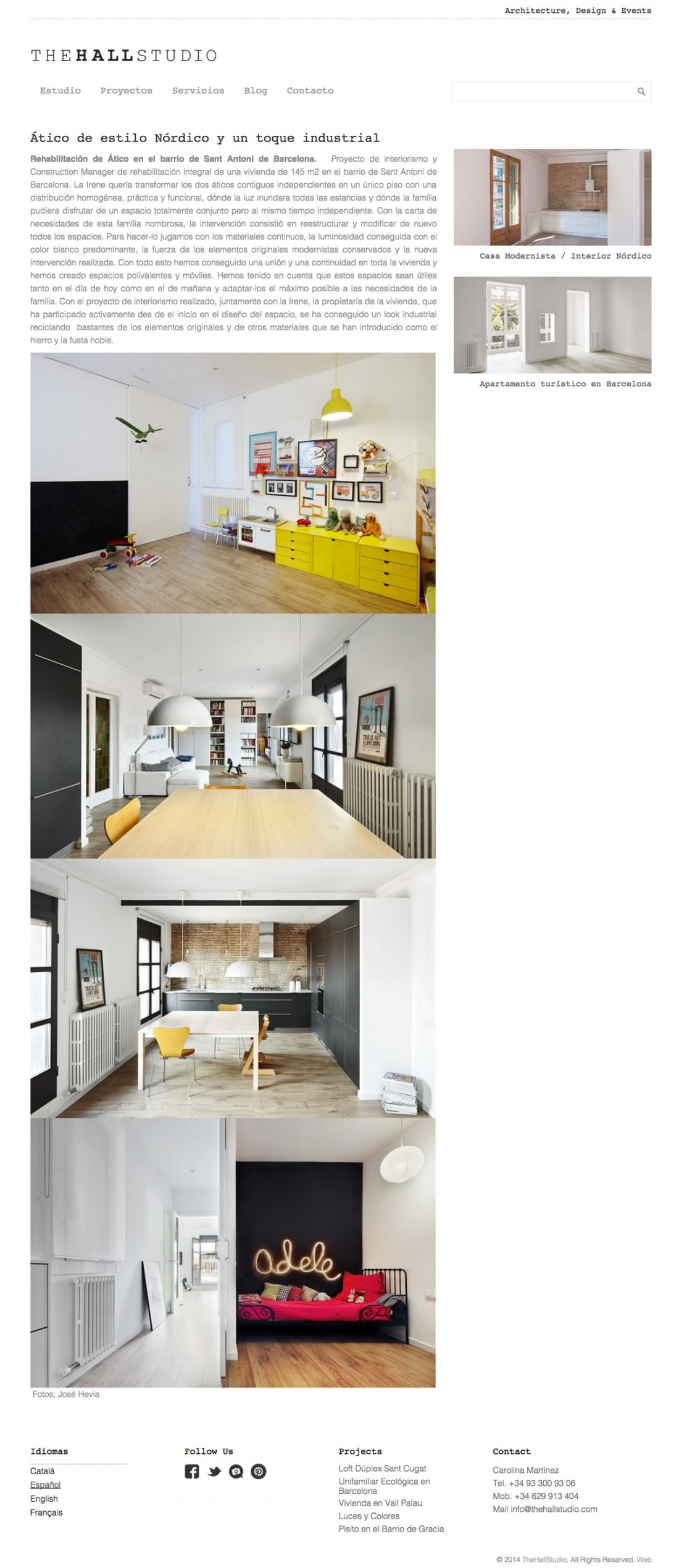 The hall studio - Arquitectura - Diseño web