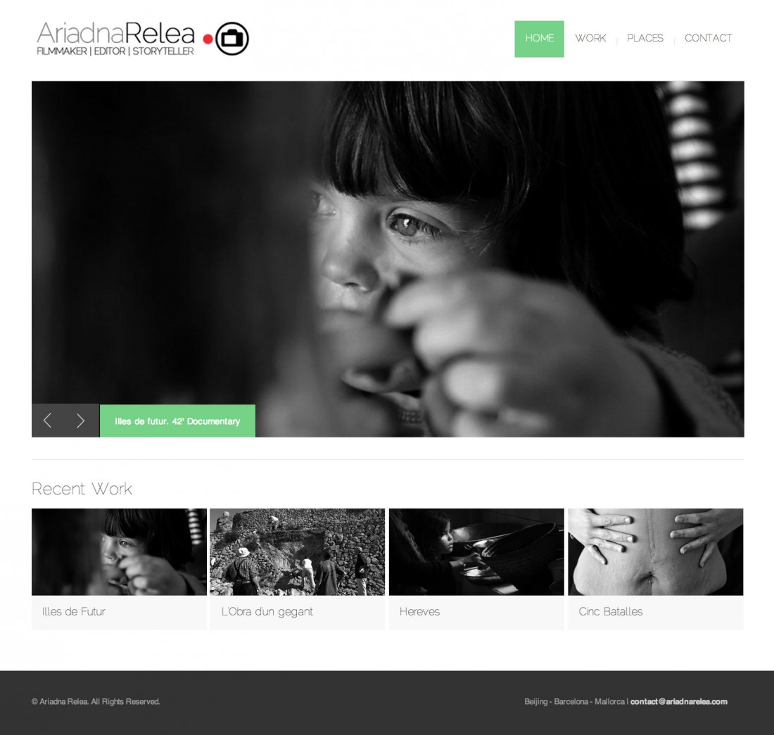 Ariadna Relea - Filmmaker - Diseño web