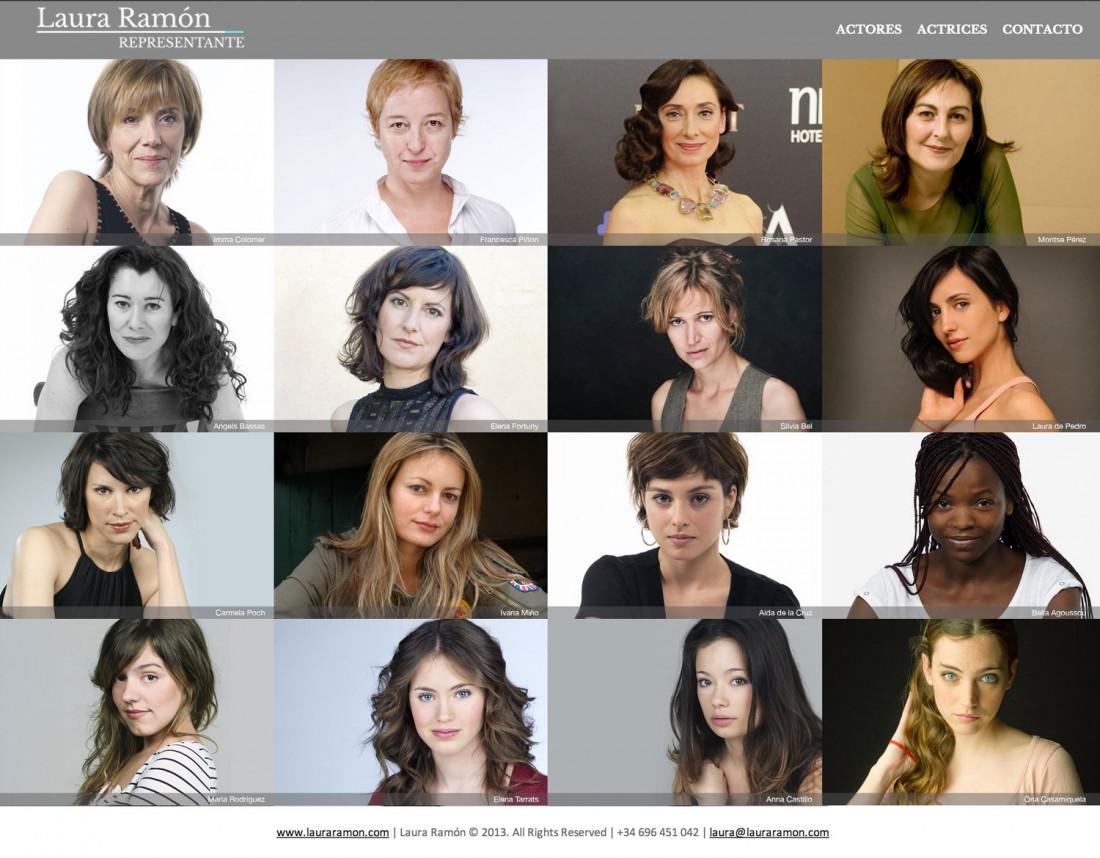 Laura Ramón - Representante de actores - Diseño web