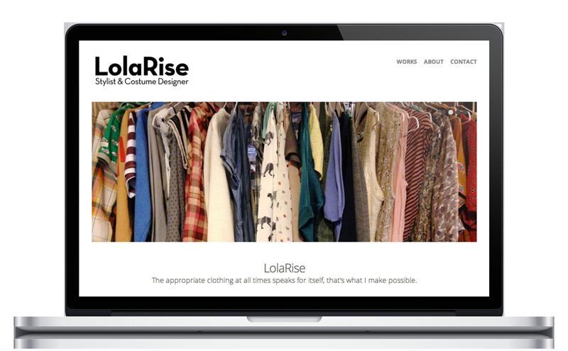 LolaRise - Vestuario - Diseño web