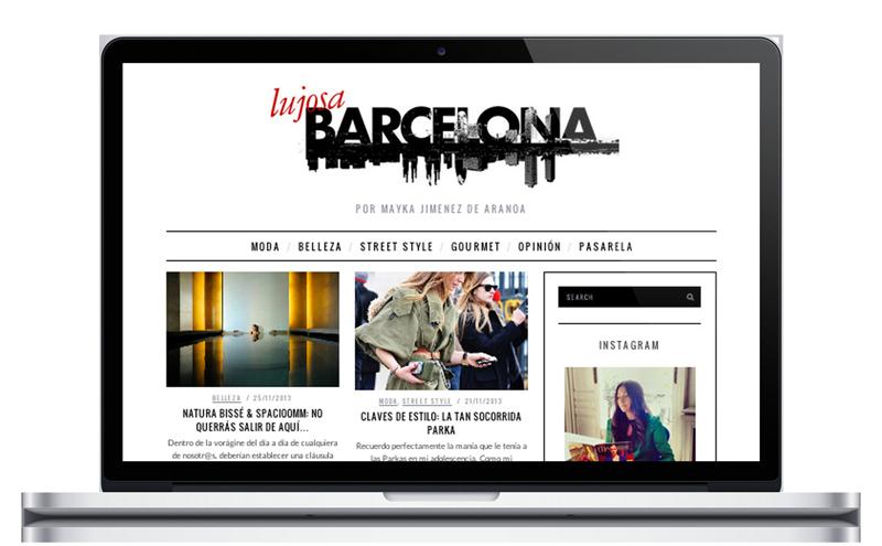 Lujos Barcelona - Blog de moda - Diseño web