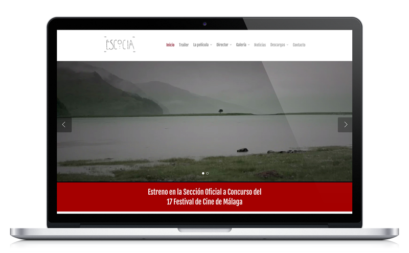 Escocia - Documental de Jorge Peña - Diseño web