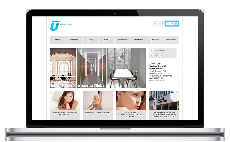 Clínica Tufet - Clínica Estética - Diseño Web