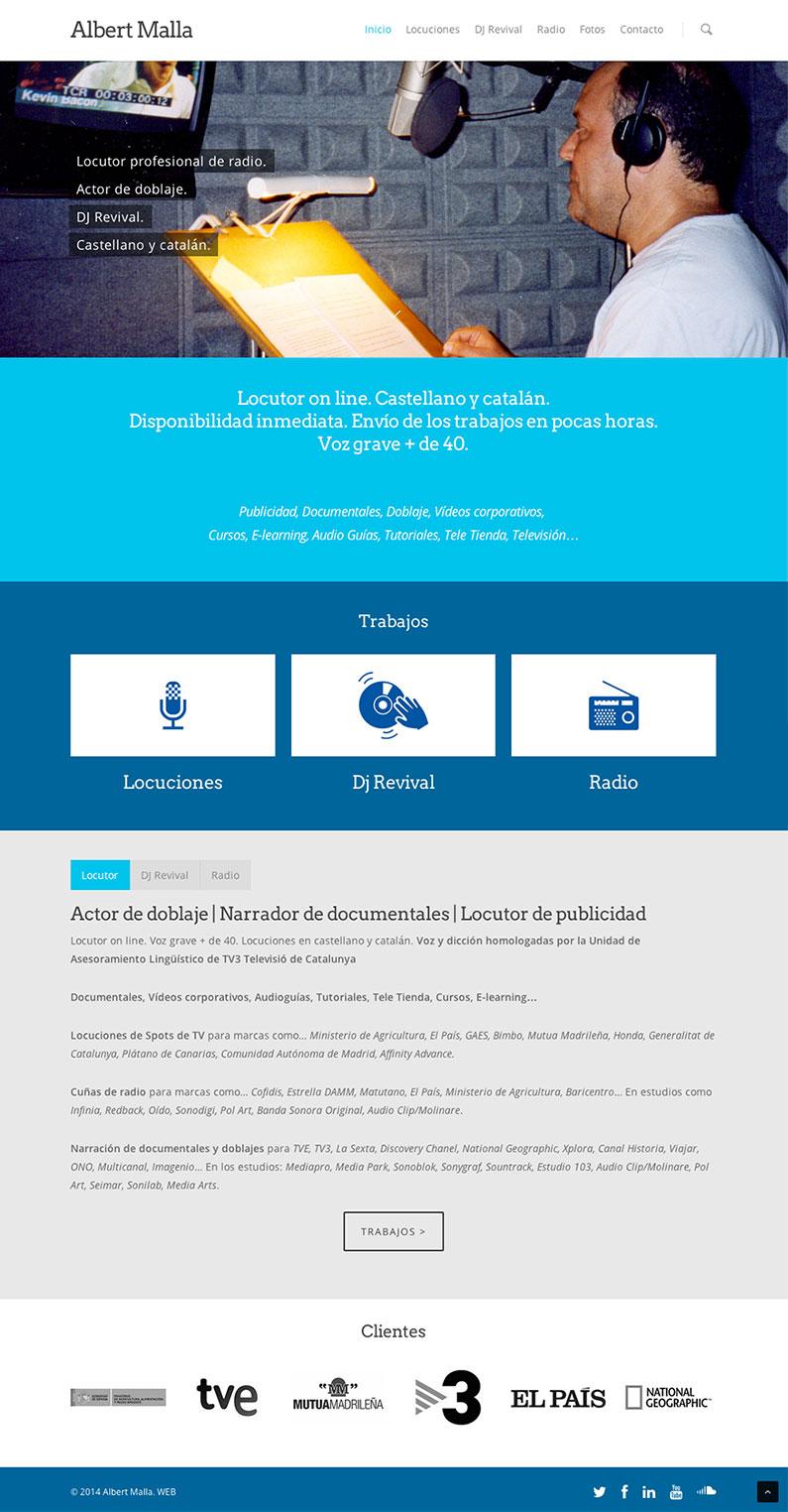 Albert Malla - Locutor - Diseño Web