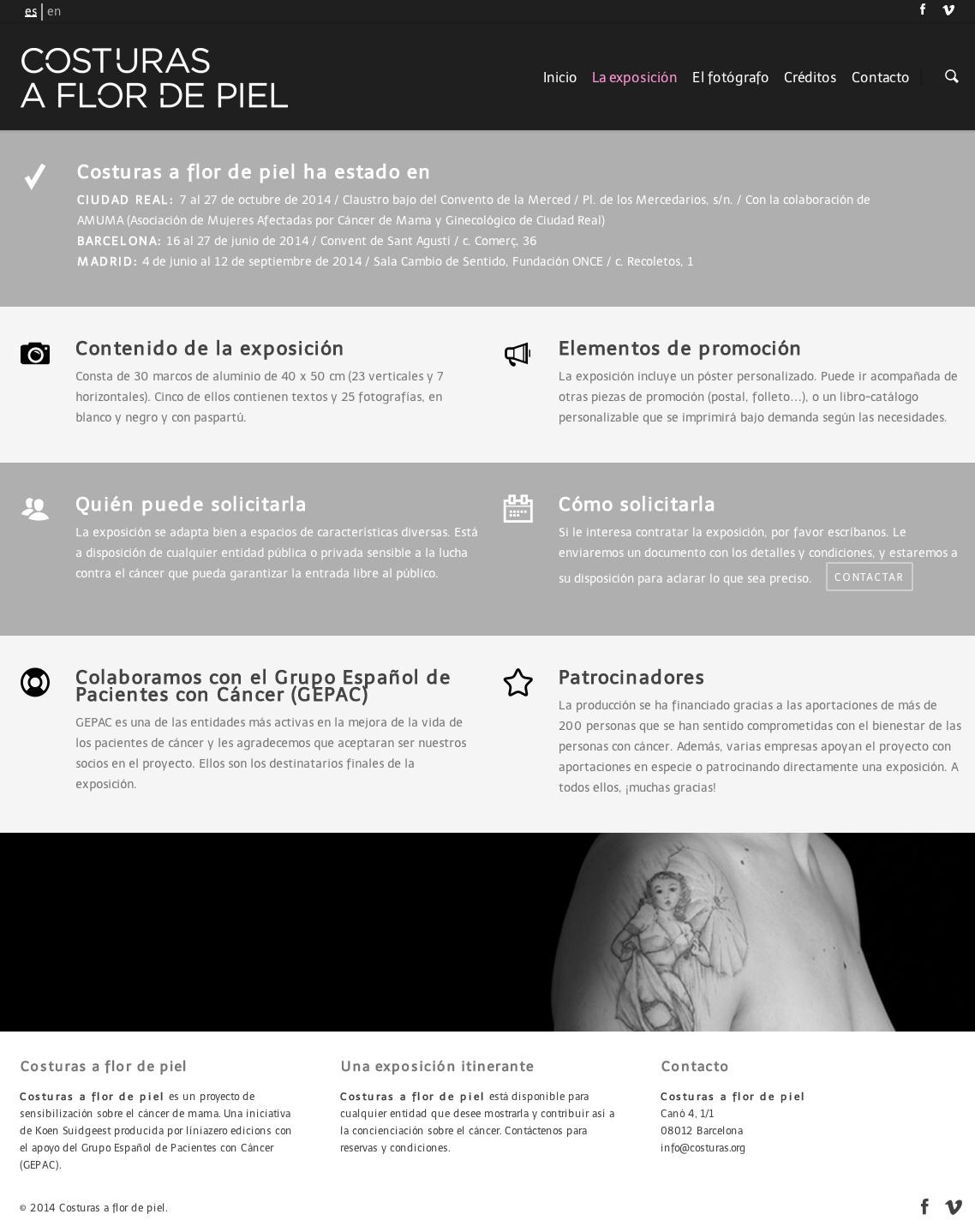 Costuras a flor de piel - Proyecto Fotográfico - Diseño Web