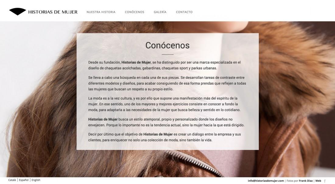 Historias de Mujer - Ropa para mujer - Diseño Web