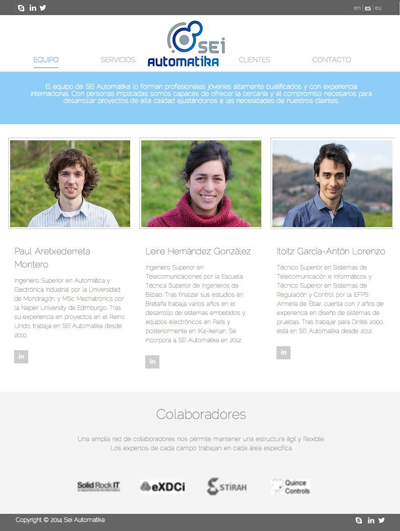 Sei Automatika - Desarrollo Web
