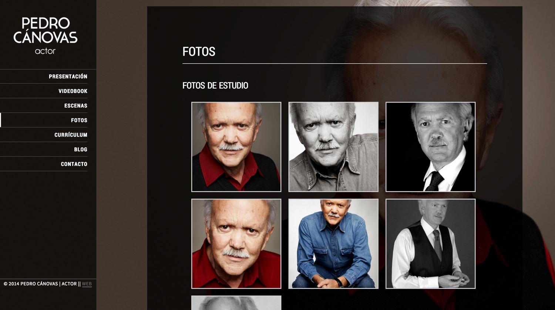 Pedro Cánovas - Actor - Diseño Web