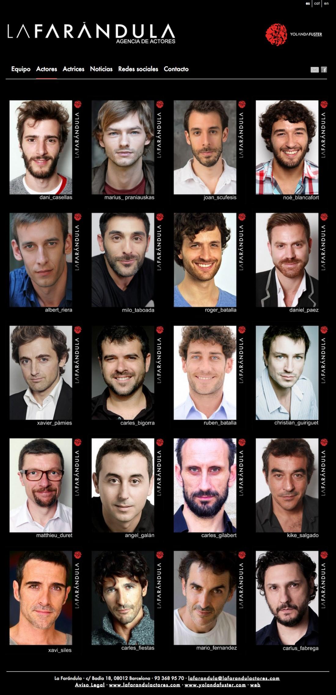 La Farándula Actores - Agencia de Actores - Diseño Web