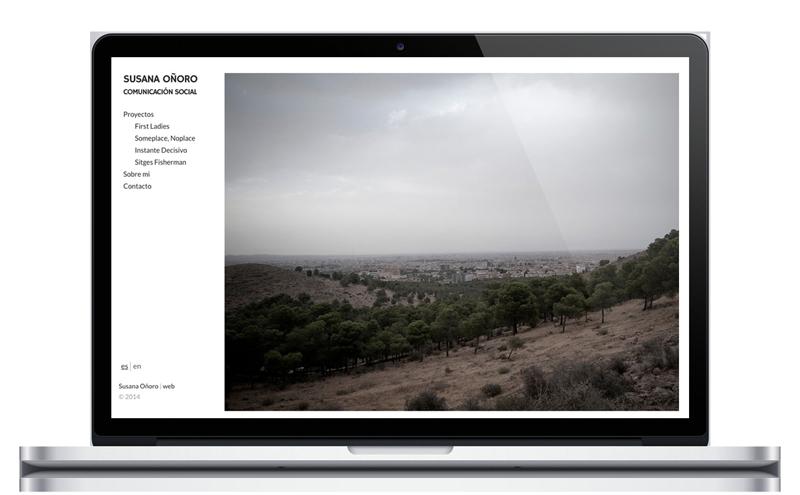 Susana Oñoro - Fotógrafa - Diseño Web