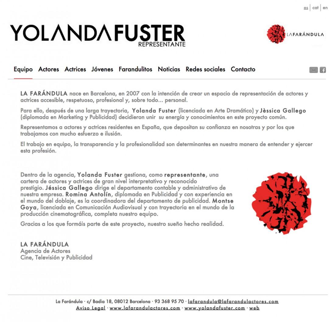 Yolanda Fuster - Representante de Actores - Diseño Web
