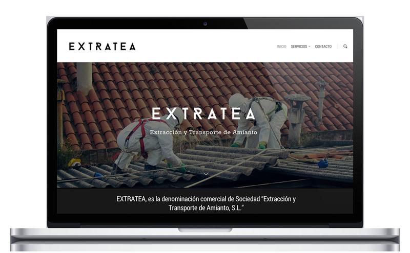 Extratea - Extracción de Amianto - Diseño Web