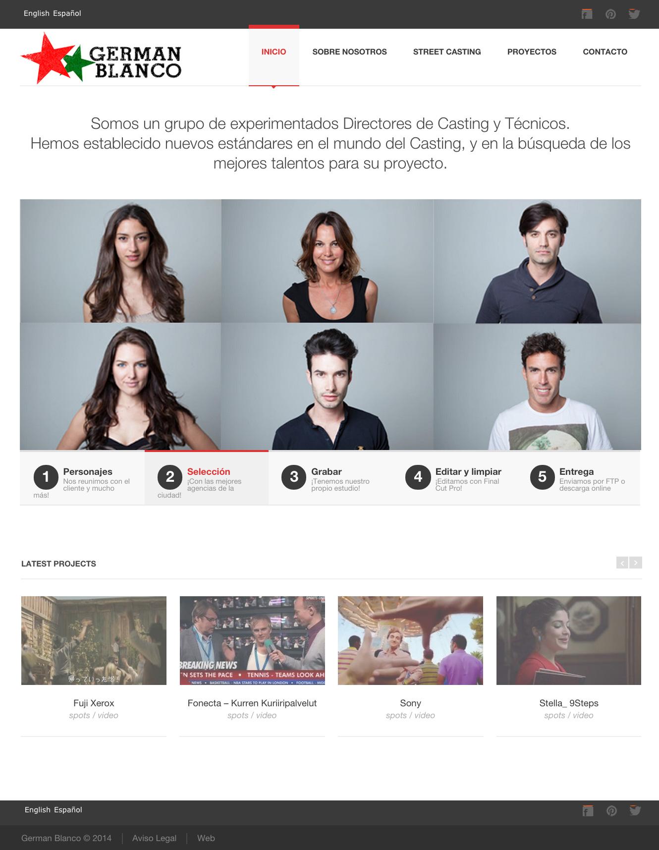 Germán Blanco - Director de Casting - Diseño Web