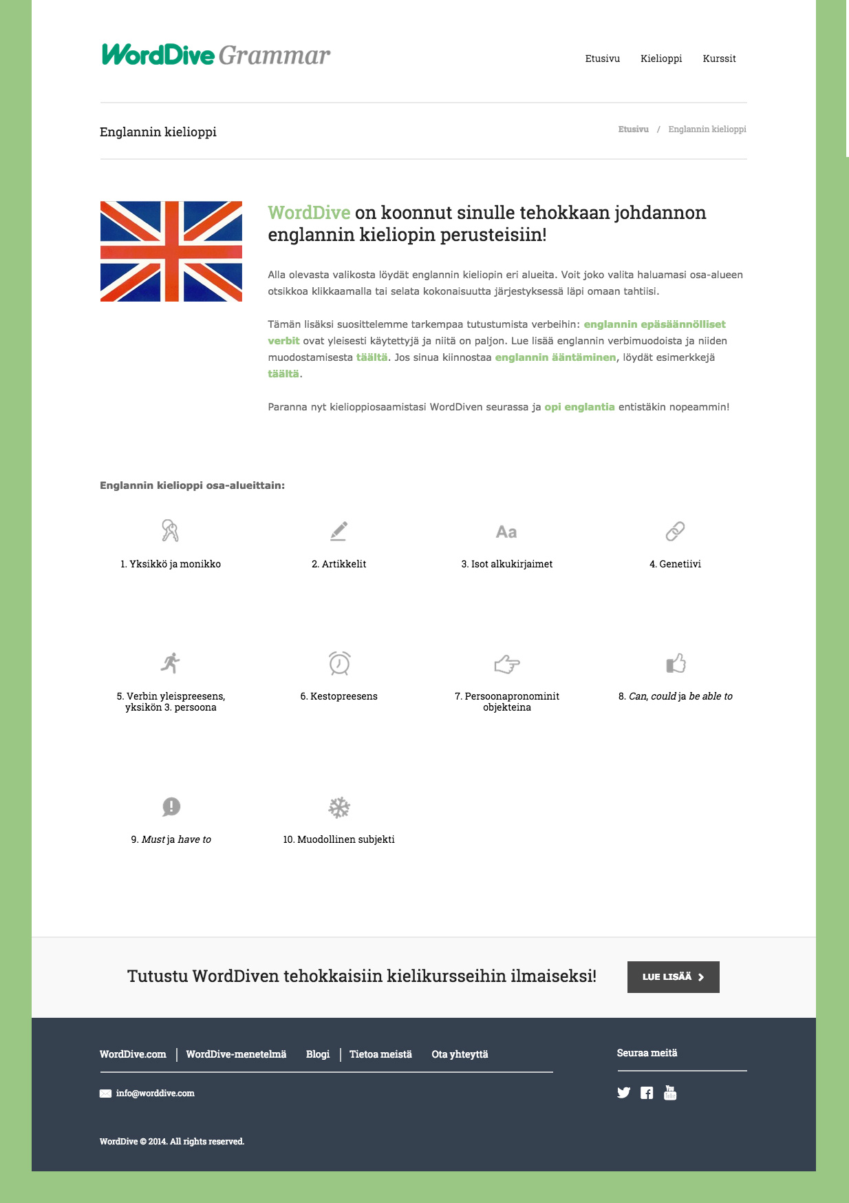 Worddive Grammar - Desarrollo Web