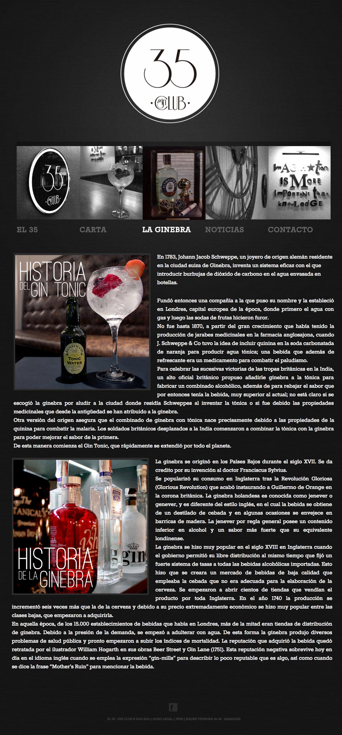 El 35 - Gin Club - Diseño Web