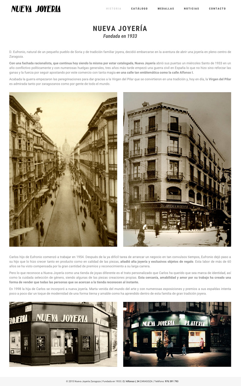 Nueva Joyería Zaragoza - Diseño Web