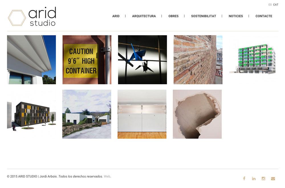 Arid Studio - Arquitectura Sostenible - Diseño Web