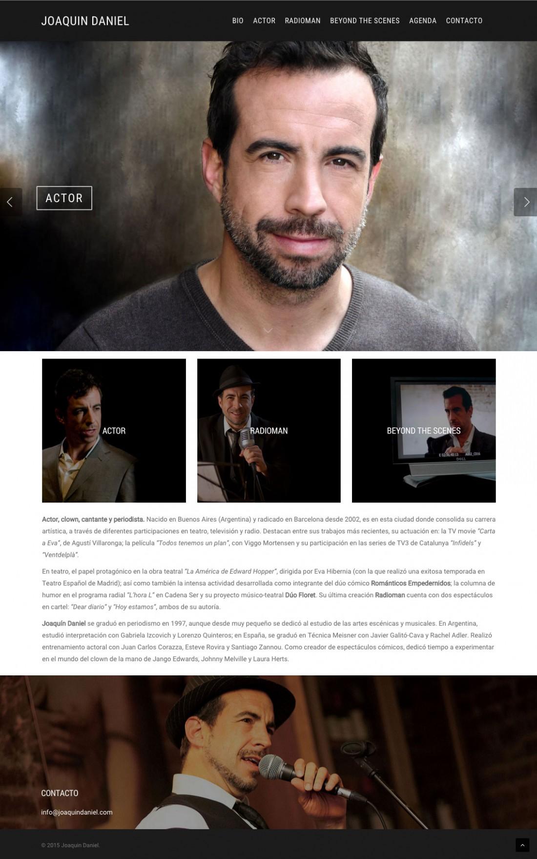 Joaquin Daniel - Actor - Diseño y Desarrollo Web