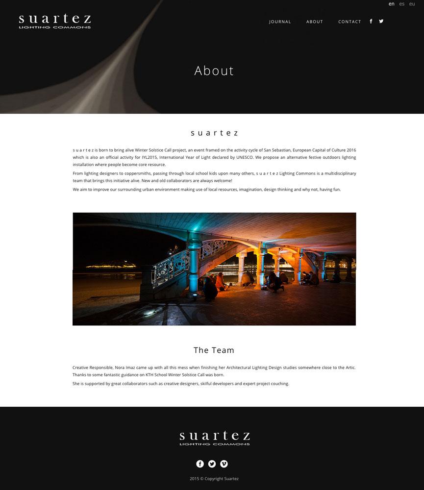 Suartez Lighting Commons - Diseño Web