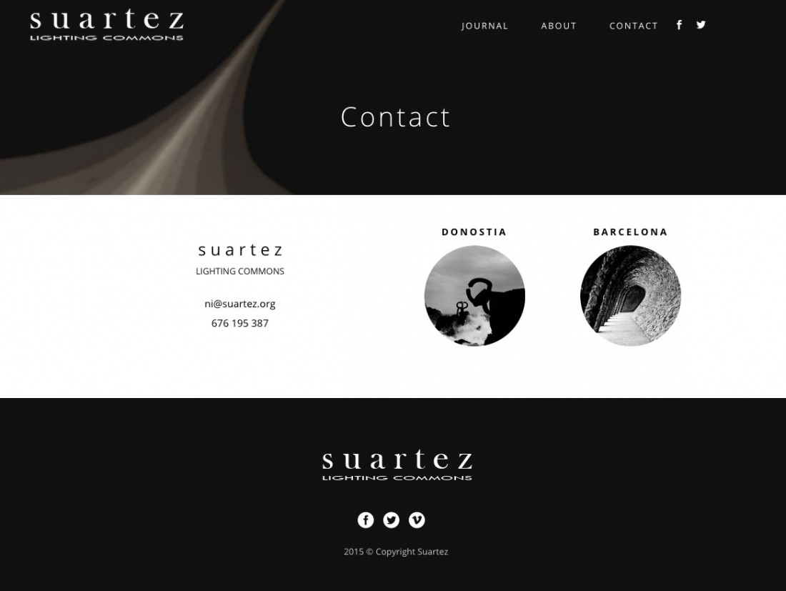 Suartez Lighting Commons - Diseño Web