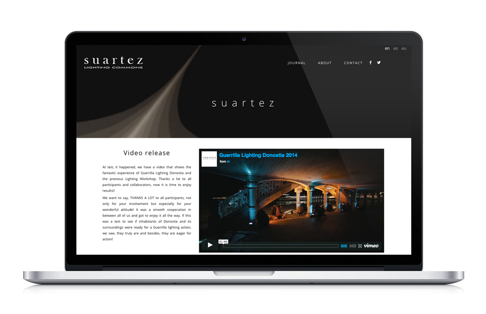 Suartez Lighting Commons Website