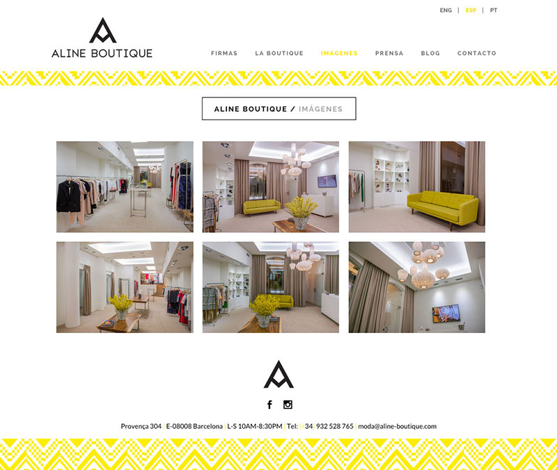 Aline Boutique - Website