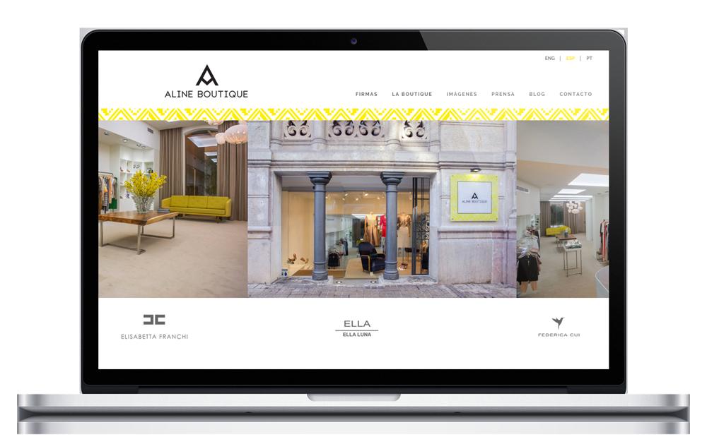 Aline Boutique - Website
