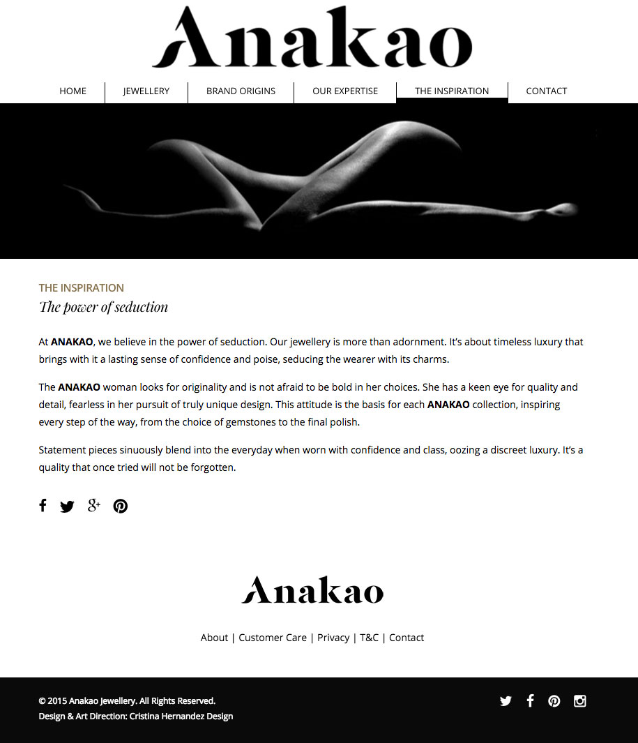 Anakao Jewellery - Website