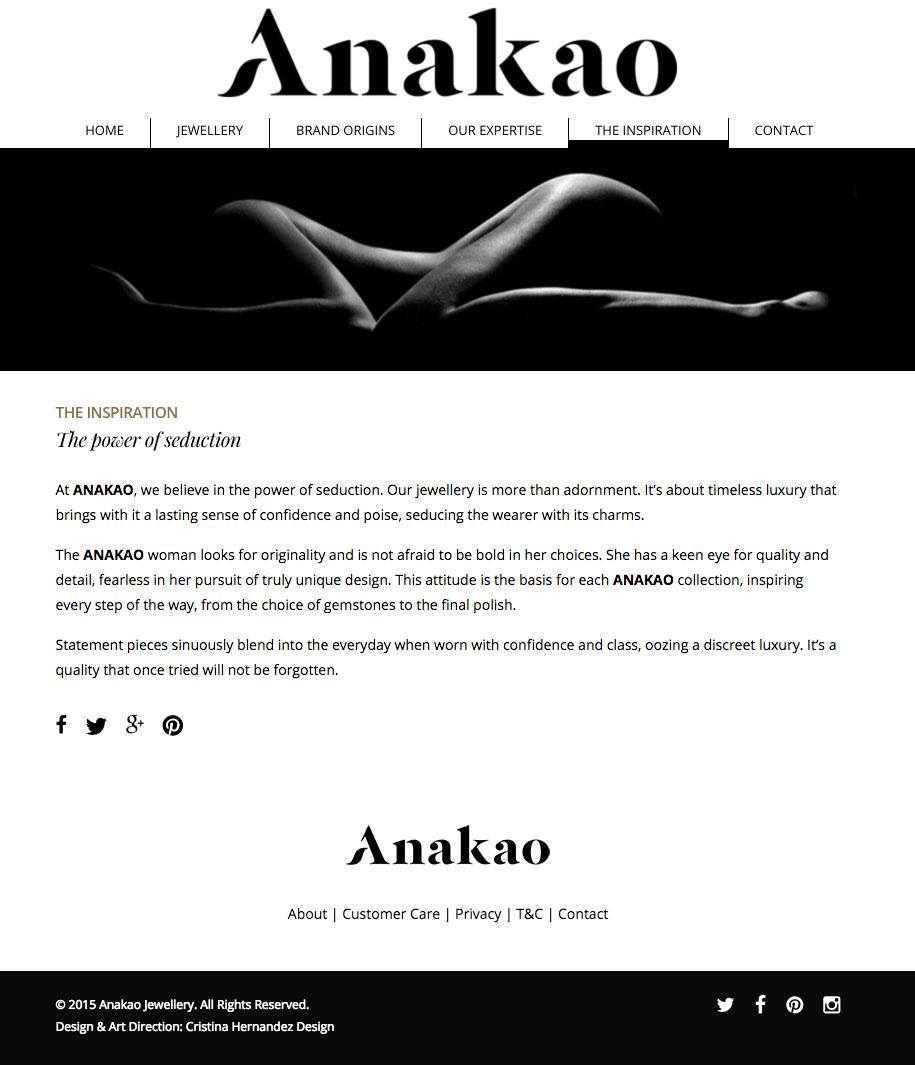 Anakao Jewellery - Website