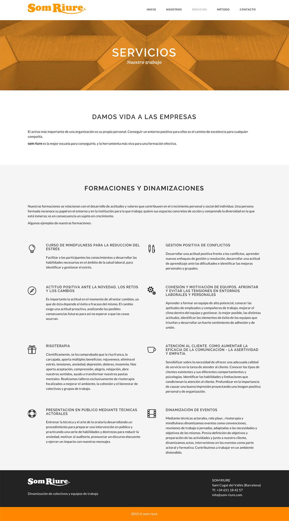 Som Riure - Diseño y programación web