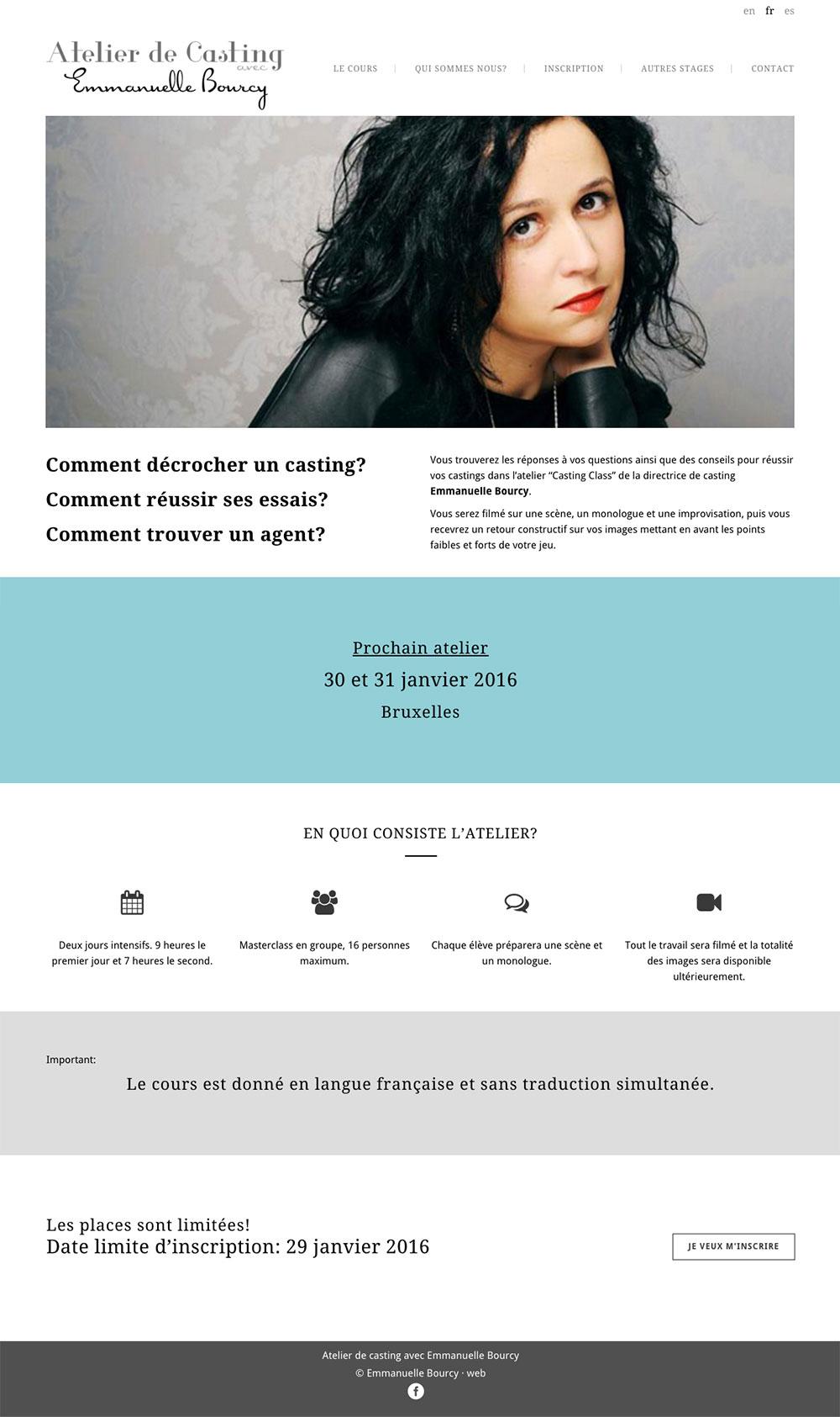 Atelier de casting avec Emmanuelle Bourcy