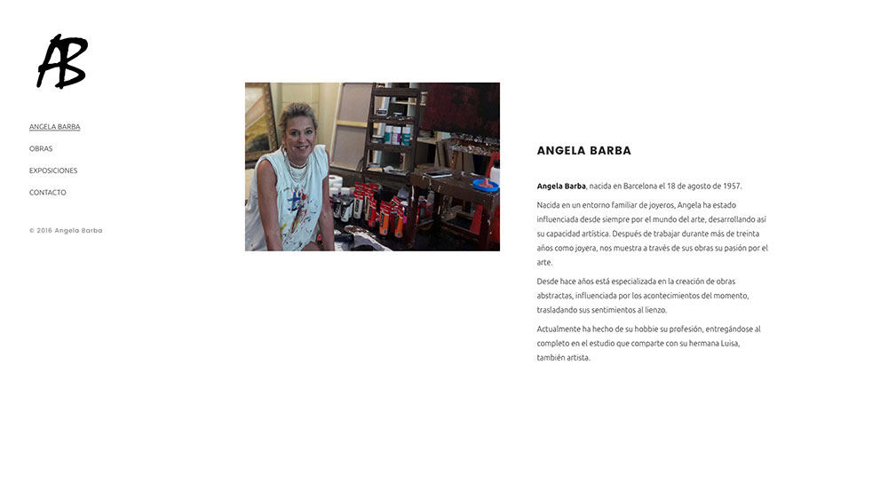 Ángela Barba - Website