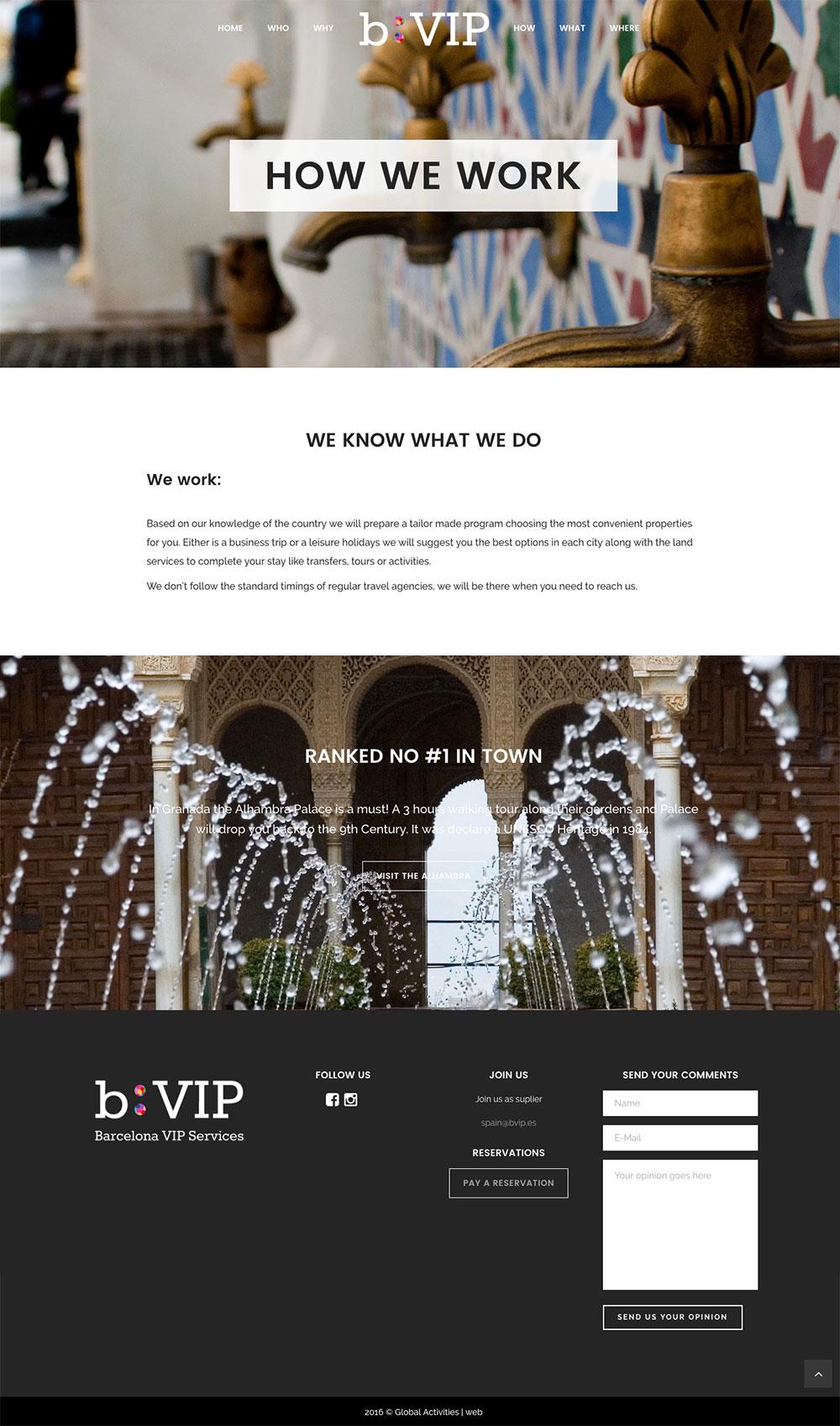 b:VIP - Agencia de viajes - Página web