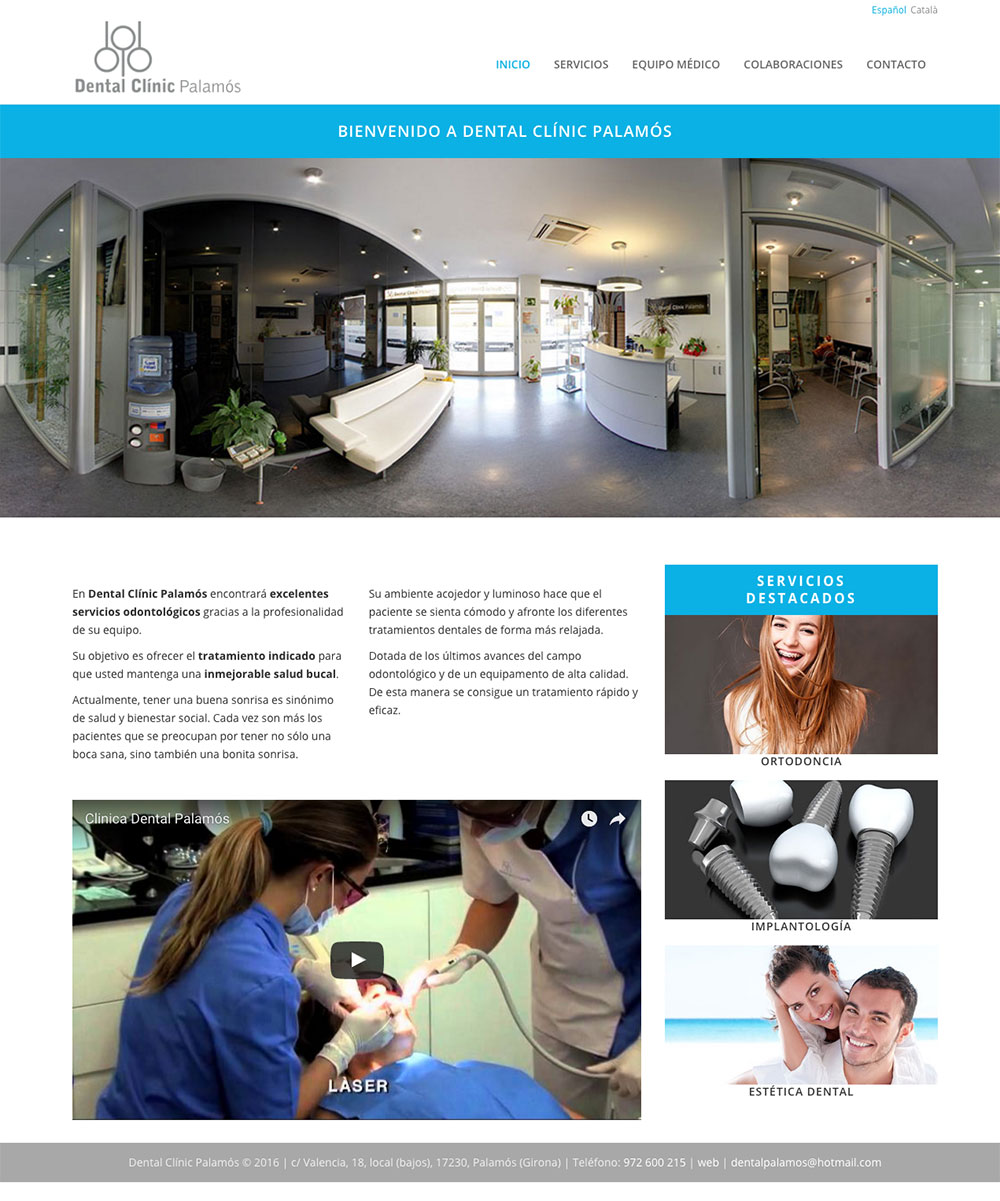 Dental Clínic Palamós - Diseño página web