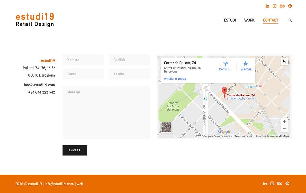 estudi19 - Estudio de diseño de retail y shop concept - Website