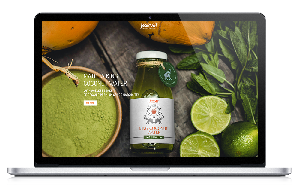 Jeeva - Coconut Water - Website