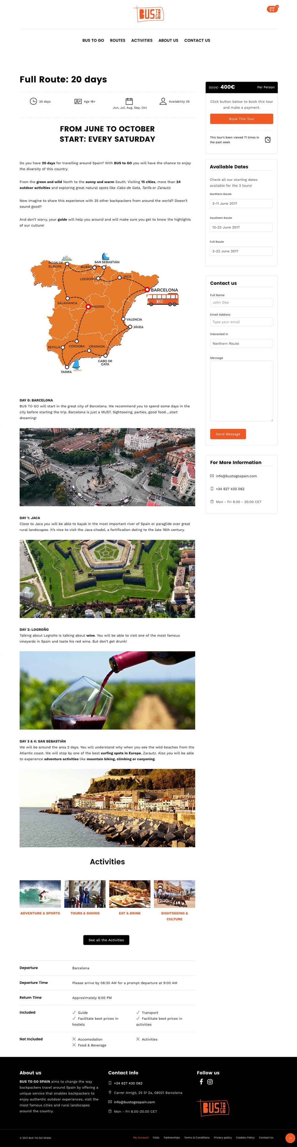 Bus to go Spain - Agencia de viajes - Website