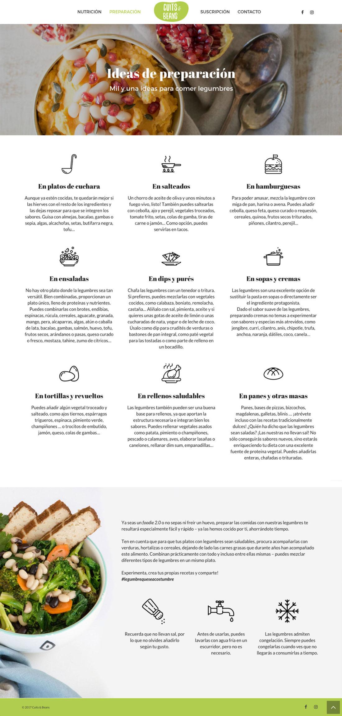 Cuits & Beans ★ Legumbres cocidas ★ Website