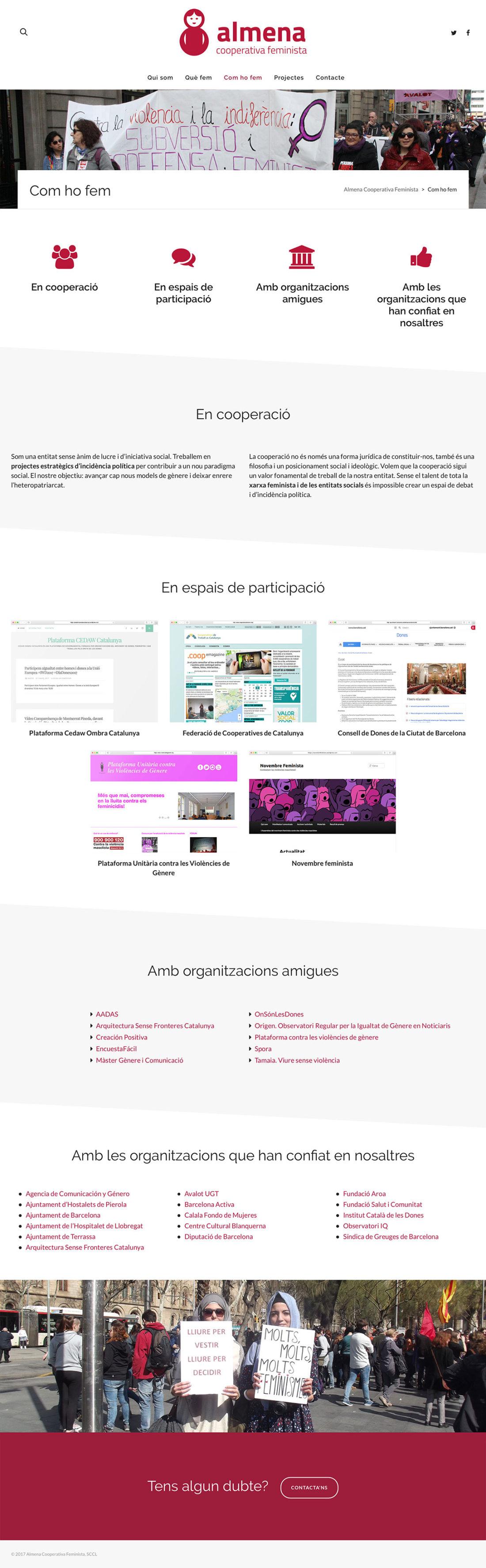 Almena Cooperativa Feminista - Diseño y Programación Web