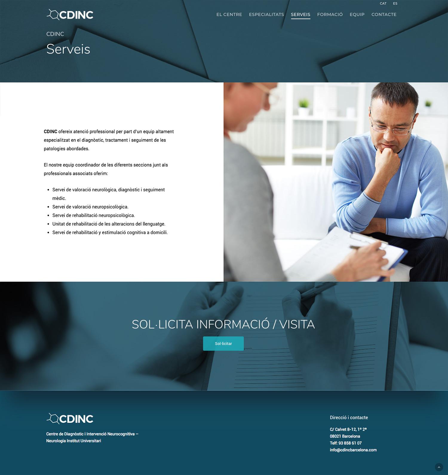CDINC ★ Centro de diagnóstico e intervención neurocognitiva ★ Website