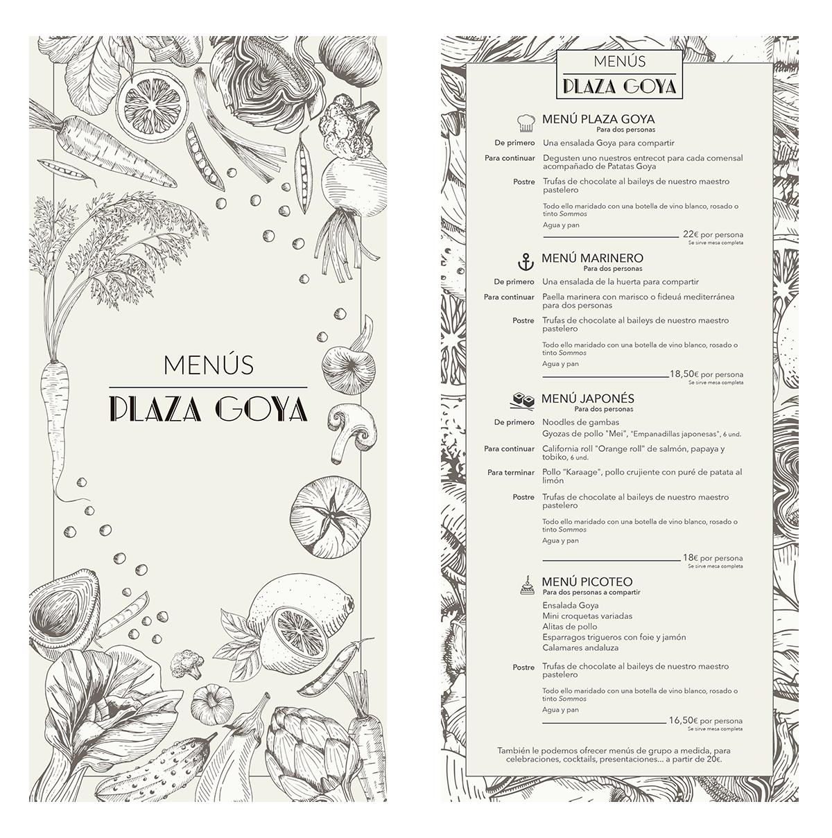 Plaza Goya ★ Restaurante ★ Carta de menús