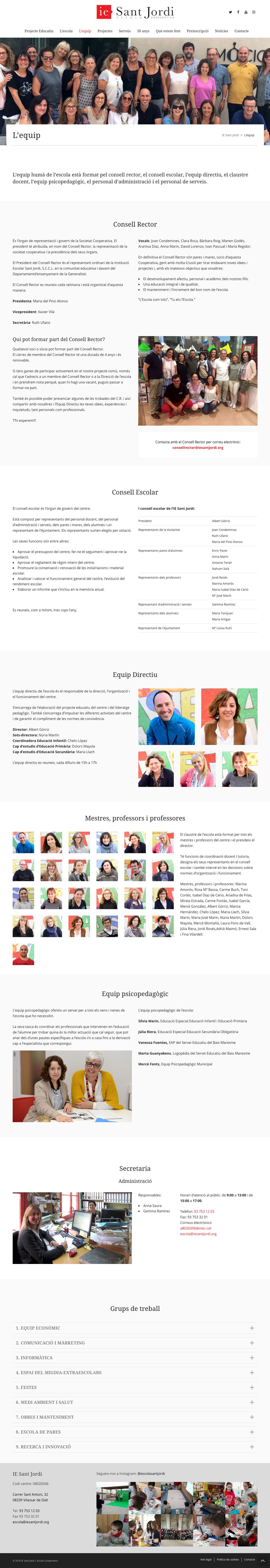IE Sant Jordi ★ Escola cooperativa Vilassar de Dalt ★ Website