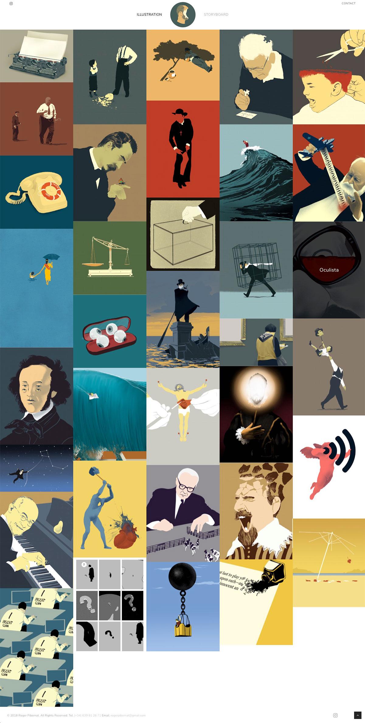 Roger Pibernat ★ Ilustración y Storyboard ★ Website