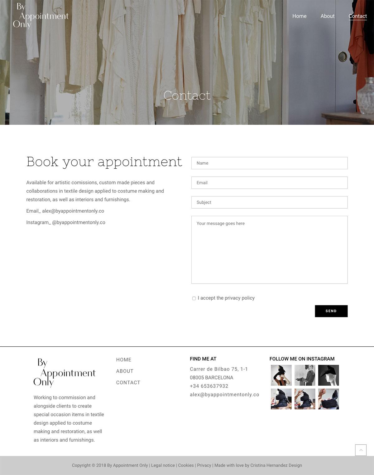 By Appointment Only ★ Diseñadora de moda ★ Website