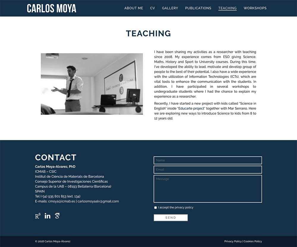 Carlos Moya Alvarez ★ Postdoctoral researcher at ICMAB ★ Website