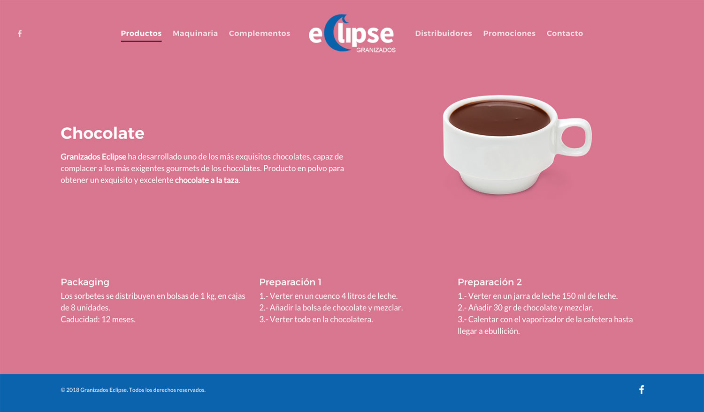 Granizados Eclipse ★ Venta de granizados y maquinaria ★ Website